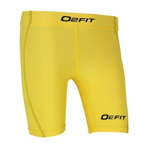 o2fit Womens Compression Shorts - Yellow