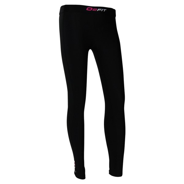 o2fit Womens Compression Tights - Black