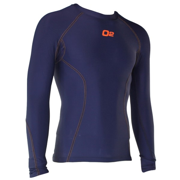 o2fit Mens Compression Long Sleeve Top - Navy
