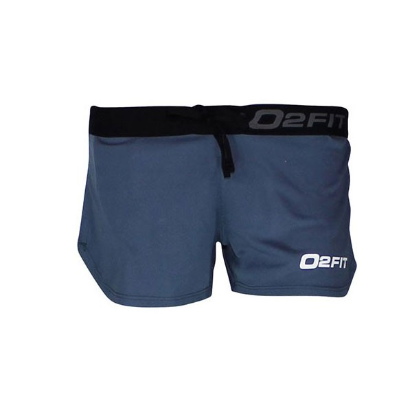 o2fit Womens Activewear Running Shorts - Carbon Grey
