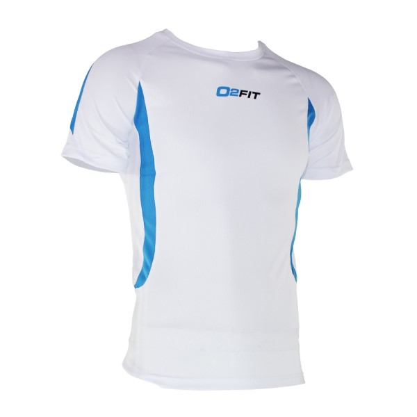 o2fit Mens Activewear Shirt - White
