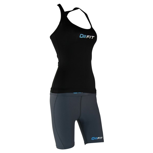 o2fit Womens Activewear Running Singlet - Black