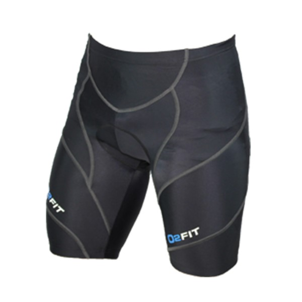 o2fit Mens Cycling Shorts - Black